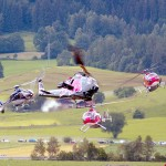 Helikopter der Flying Bulls