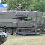 Schwenkflügelgitter auf dem Kampfpanzer Leopard 2 A4