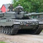 MG-Schild auf Kampfpanzer Leopard 2 A4