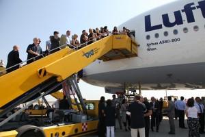 """Airbus A380 D-AIMG """"Wien"""" am Flughafen Wien-Schwechat"""