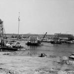 Einsturz der Reichsbrücke - Bau der Behelfsbrücke