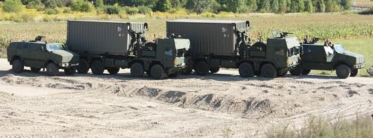 ATF Dingo 2 und MAN 38.440 8x8 ÖBH gepanzert mit Hakenladesystem