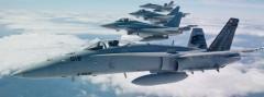 Schweizer F-18 und deutsche Eurofighter Typhoon bei einer gemeinsamen Übung