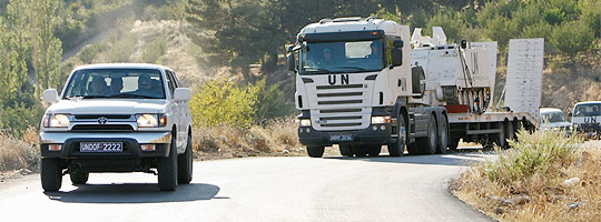 Transport-Konvoi der UNDOF