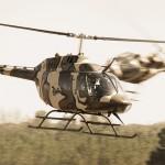 Bell OH-58B Kiowa 3C-OL (vorne) und 3C-OJ