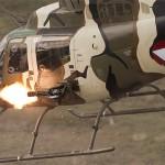 ell OH-58B Kiowa beim 'Scharfen Schuss'