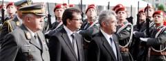 Generalstabschef Entacher, Verteidigungsminister Darabos und Bundespräsident Fischer