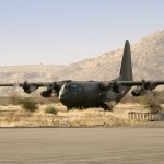 Lockheed Hercules C Mk.1P (C-130K) in N´Djamena, Hauptstadt der Republik Tschad