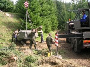 Ein Charioteer Panzerturm wird geliefert © Bunkermuseum.at