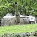 Ortsfest eingebauter Panzerturm Centurion mit 10,5 cm Kanone L7A1 - gut zu erkennen die Nebelwurfanlage und rechts die Halterung für den Schießscheinwerfer © Doppeladler.com