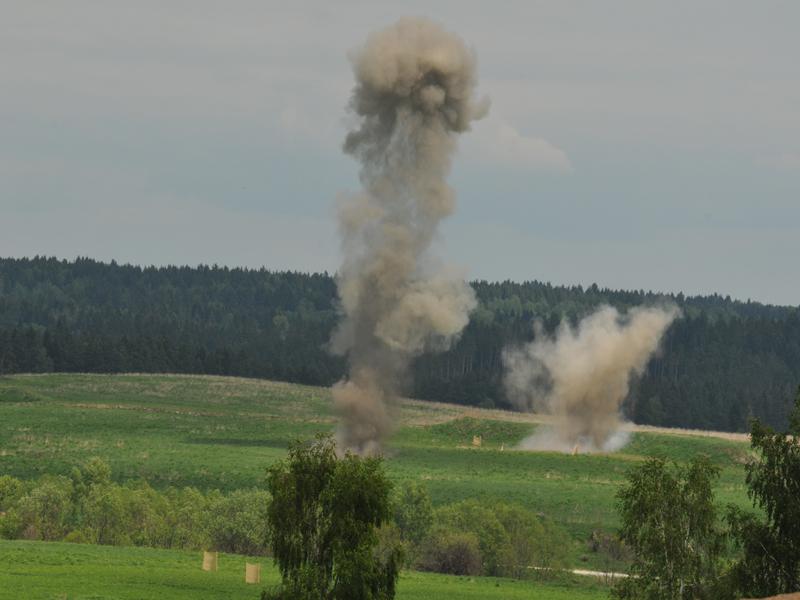 Die Luftunterstützung sorgt für einen sicheren Rückzug der Spezialeinsatzkräfte © Strobl