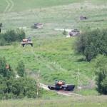 Die mechanisierte Kompanie treibt die überlebenden Rebellen aus der Entmilitarisierten Zone © Doppeladler.com