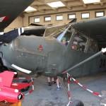 040 - Auch die Cessna L-19A Bird Dog (ex 3A-CD) dient den angehenden Flugtechnikern als Anschauungsobjekt.