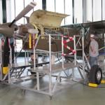 016 - Zurück in die Fliegerwerft 1. Hier gewährt eine Pilatus PC-6 Einblick in das Pratt & Whitney PT6 A-27 Turboprop Triebwerk mit 550 Wellen-PS.