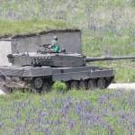 Unterdessen rollen auch die ersten Kampfpanzer an Kühbach vorbei © Doppeladler.com