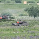 Die Leoparden haben die ersten Gegner niedergekämpft. Die ersten Zielschreiben kommen ins Bild © Doppeladler.com