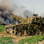 Nun beginnen auch die Panzerhaubitzen M-109A5Ö zu feuern. Hier ein Archivbild. Die eingesetzten acht Haubitzen feuerten aus dem Raum Pötzles aus großer Entfernung und waren daher nicht sichtbar © Bundesheer