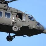 """053 - 6M-BE war in Bosnien im Einsatz. Schwach kann man die Rückstände der Aufschrift """"AUSTRIA"""" auf den Cockpit-Türen und """"EUFOR"""" auf der Kabinentür erkennen."""