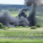 Simulierter Raktenangriff. Die Saab 105 Oe waren übrigens die einzigen Einheiten, die nicht scharf geschossen haben © Doppeladler.com