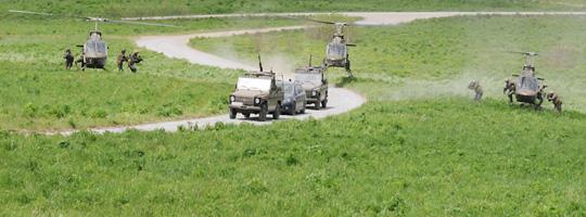 Luftstreitkräfte und Spezialeinsatzkräfte bei der AMADEUS 2012 © Strobl