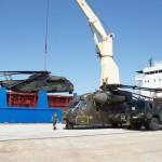 Die deutsche Bundeswehr verlegte zwei Sikorsky CH-53 auf dem Seeweg - das war Teil der Übung. Drei flogen selbst nach Portugal © Hot Blade