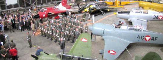 Eröffnung der Militärluftfahrtausstellung 2012 als Außenstelle des HGMs © HGM