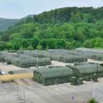 Das Hauptquartier der EU-Battlegroup 2012-2 kann in schnell verlegbaren Zelten untergebracht werden © Bundesheer