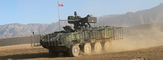 Radpanzer Pandur II 8x8 der Tschechischen Streitkräfte in Afghanistan © ACR