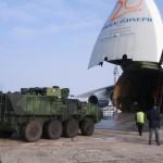 Die vier Pandure wurden in einer Antonow An-124-100 Ruslan von Brünn nach Kabul geflogen. Die Waffenstation ist in Transportstellung © ACR