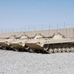 Bis Ende 2010 dienten diese vier tschechischen BVP-2 Schützenpanzer beim PRT Logar © ACR