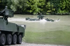 Die tschechischen Pandure sind amphibisch. Bei der Version M1 wurden diese Fähigkeit aufgegeben, um Gewicht zu sparen © ACR