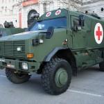 Das Dingo II Notfallfahrzeug dient der Evakuierung und Erstversorgung von Verletzten in Gefahrenzonen. © Doppeladler.com