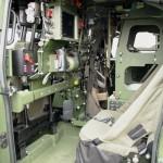 Im Innenraum des IVECO LMV geht es für die 4-köpfige Besatzung eng zu. Hier der Sitzplatz des Schützen © Doppeladler.com