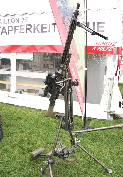 7,62 mm Maschinengewehr MG74 auf Lafette in Fliegerabwehr-Aufstellung © Doppeladler.com