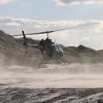 Auch Landungen auf sandigem Untergrund wurden trainiert © MzHSSt