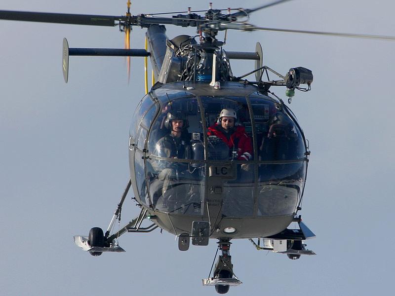 Die Sud-Aviation SA 316B Alouette III waren als Berge- und Sanitätshubschrauber im Einsatz. Hier 3E-LC über Zeltweg © Werner P
