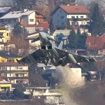 Die Typhoons operierten zwar von Zeltweg aus, trainierten aber Touch&Go Manöver am Flughafen Innsbruck © Johann Watz