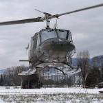 Übungseinlage Hubschrauberabsturz! Das Emergency Response Team Air ERTA in Hohenems wird alarmiert. Hier Agusta-Bell AB-212 '5D-HK' © Bundesheer / Schwärzler