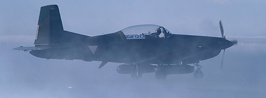Pilatus PC-7 im Einsatz bei der Luftraumsicherungsoperation DÄDALUS 2013 © Werner P