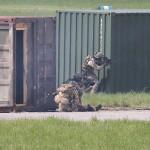 Ein Kommando-Soldat wird getroffen