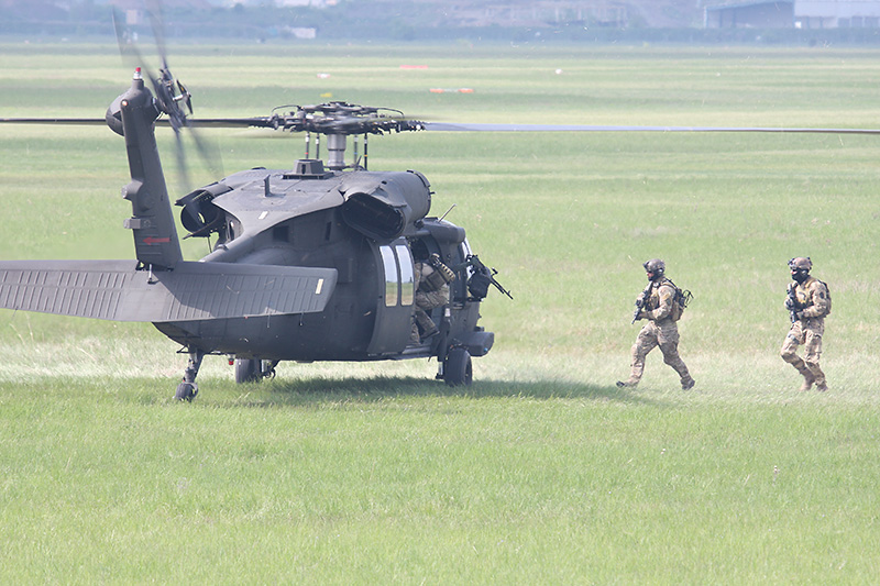Der Chopper steht bereit