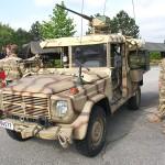 Einsatzfahrzeug Puch G Sandviper (Typ II). Für den Tschad-Einsatz entwickelt, jetzt sind 26 Fahrzeuge fester Bestandteil des Führparks