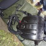 Das Dräger LAR Tauchgerät mit geschlossenem Sauerstoff-Kreislauf sorgt dafür, dass keine verräterischen Luftbläschen an die Oberfläche steigen