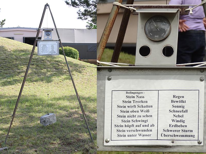 Gleich gegenüber der Lehrgruppe der Fallschirmspringer gibt es die wichtigsten Wetterinfos im Überblick