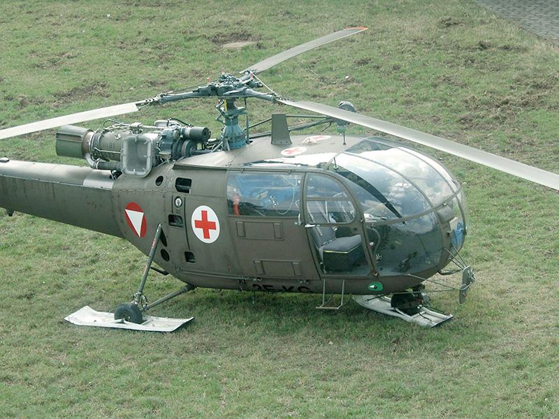 """Alouette III der SAN REAL - Die """"echte"""" Sanitätsversorgung ist sichergestellt © Bundesheer"""