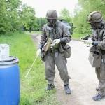 Chemische Kampfstoffe werden von ABC Spezialisten dekontaminiert © Bundesheer / Miller