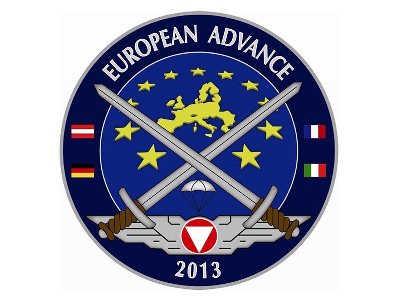 Logo der Heeresübung European Advance 2013 - EURAD13