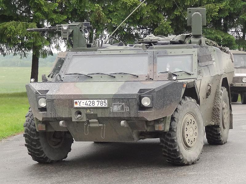 Spähwagen Fennek der Deutschen Bundeswehr © Doppeladler.com