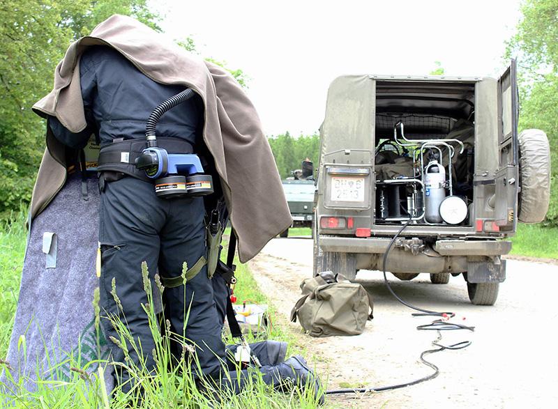 Handentschärfer im Einsatz © Bundesheer / Miller