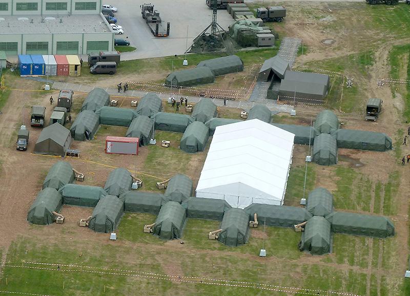 Die Bilder der Drohne werden in Echtzeit in das Kommando der Battlegroup übertragen © Doppeladler.com